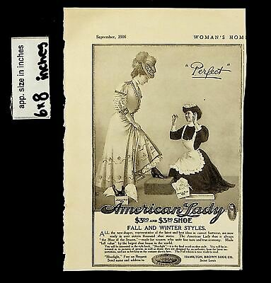1906 American Lady Shoe Fall Winter Styles Vintage Print Ad 13747