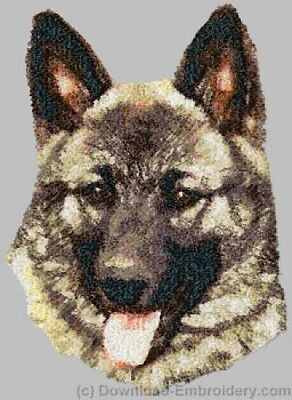 Large Embroidered Zippered Tote - Norwegian Elkhound DLE2493