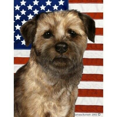 Patriotic (D2) Garden Flag - Border Terrier 321221