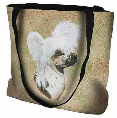 Woven Tote Bag - Chinese Crested 5668 IN STOCK