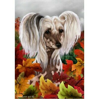Fall House Flag - Chinese Crested 13069