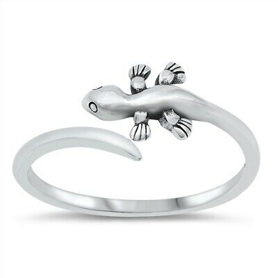 New Solid 925 Sterling Silver 32mm Special Lizard Unisex Ring Size 5-9