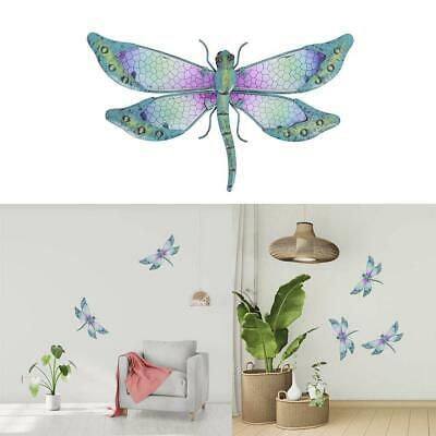 Color Dragonfly Wall Metal Ornaments Flat Glass Printing Home Decorations