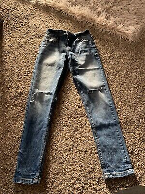 Boys Skinny Blue Jeans By NEXT, Age 9 In Good Condition
