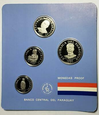 Paraguay 1980 4-Piece Proof Set with Case, Just 1,000 Sets Made
