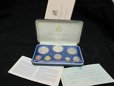 BARBADOS 1973 First National Coinage 8 Coin Silver Proof Set 62.5 grams of 925