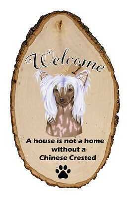 Outdoor Welcome Sign (TP) - Chinese Crested 94069
