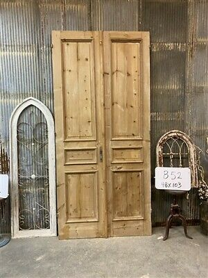 Thick Molding, Antique French Double Doors, European Doors, Tall Pair B52