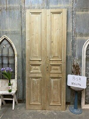 Thick Molding, Antique French Double Doors, European Doors, Tall Pair B53