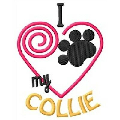 "I ""Heart"" My Collie Zippered Tote 1298-2"