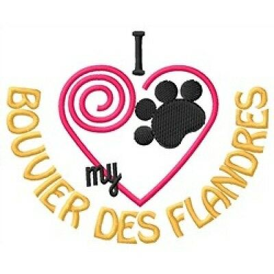 """I """"Heart"""" My Bouvier des Flandres Zippered Tote 1289-2"""