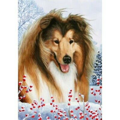 Winter House Flag - Collie 15019