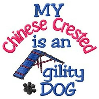 My Chinese Crested is An Agility Dog Sweatshirt - DC2000L Size S - XXL