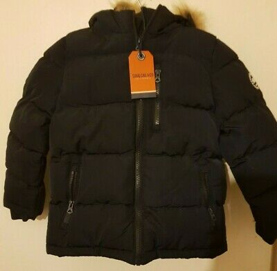 SoulCal&Co,2 Zip Bubble Padded Jacket, Kids, Color: Navy, Size: UK-7-8Y, BNWT
