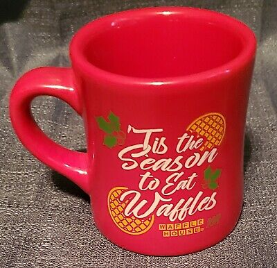 Red Waffle House 'Tis the Season to Eat Waffles Mug - Made by Tuxton