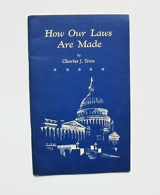 Vintage How Our Laws Are Made By Charles J. Zinn 1961 Government Printing Office