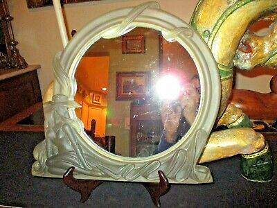 Art Nouveau Deco Table Top Vanity Mirror