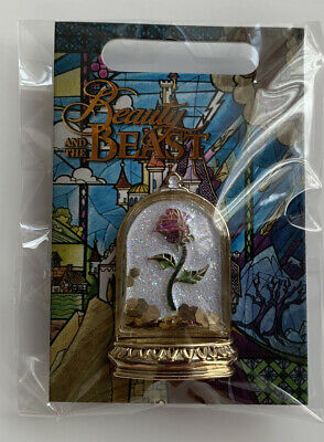 Disney Enchanted Rose Flair Pin Beauty and the Beast BNWT