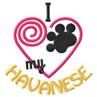 "I ""Heart"" My Havanese Long-Sleeved T-Shirt 1410-2 Size S - XXL"