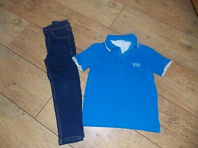 Boys Hugo Boss Polo Shirt Next Skinny Jeans Age 4-5 Years