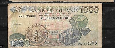 GHANA #32i 2003 1000 CEDIS #32i  VG old BANKNOTE PAPER MONEY BILL NOTE CURRENCY