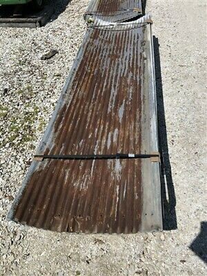 7 Sheets Barn Tin, Corrugated Metal, Reclaimed Salvage, 8' Long 112 sq ft S1