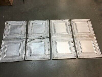 4 Ceiling Tin Panels, Vintage Reclaimed Molding, Architectural Salvage A27,