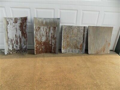 4 Galvanized Tin Sheets, Roof Ceiling Sink Backsplash, Architecture Salvage i,