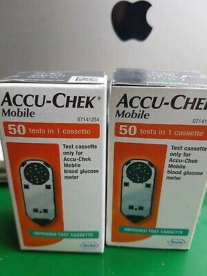 Accu-Chek X2 Mobile 50 Tests Cassette expires 08-09/2021