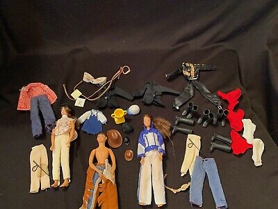 * Vtg 3 Breyer Animal Creation Doll Action Figures Horse Riding Clothes Hats +