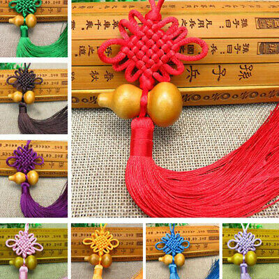 1Pc Lucky Charm Chinese Knot Feng Shui Gourd Pendant Car Home Decorat WHZDD