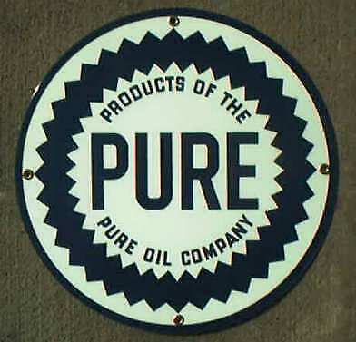 *Pure Round Porcelain Overlay Metal Sign *Nr