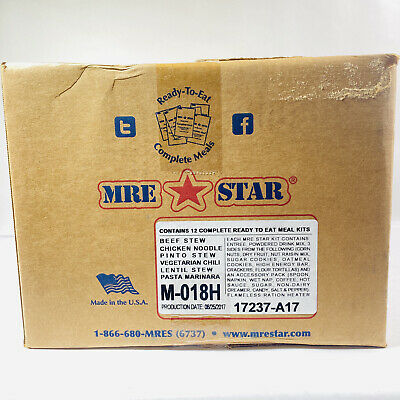 MRE Star Ready To Eat Complete 12 Meals Kit w/Accessory Pack Powdered Drinks