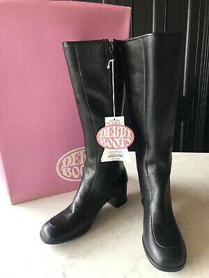 VINTAGE DERRI BOOTS BNIB 1970's Waterproof Knee High Fur Lined 4 37