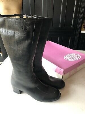 VINTAGE DERRI BOOTS BNIB 1970's Waterproof Knee High Fur Lined 7