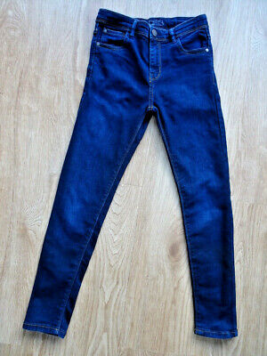 NEXT boys dark blue denim skinny leg jeans AGE 10 YEARS EXCELLENT COND