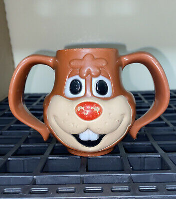 """VINTAGE NESQUIK """"QUIK"""" PLASTIC BUNNY MUG/CUP THE NESTLE CO. MADE IN U.S.A ugly"""