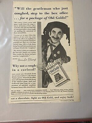 Old Gold Cigarettes Magazine Ad From The American Legion Monthly April 1929