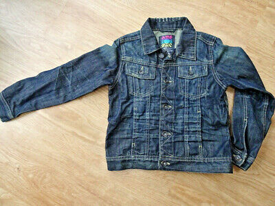 NEXT boys dark blue denim jeans jacket coat AGE 7 YEARS EXCELLENT