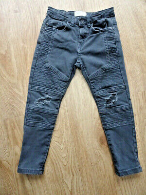 ZARA boys grey skinny leg jeans AGE 6 YEARS EXCELLENT COND