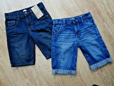 F&F boys 2 pack blue denim jeans shorts AGE 5 - 6 YEARS EXCELLENT COND