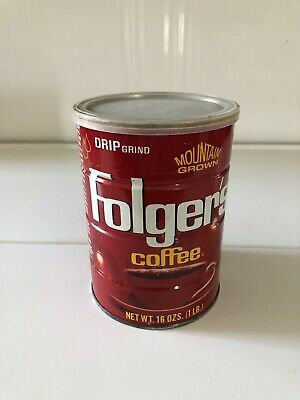 Folger's Coffee Can- 1 lb. Drip Grind With Plastic Lid