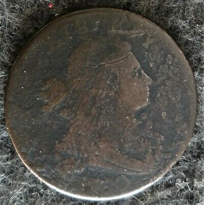 US 1800 DRAPED BUST LARGE CENT - 1800 Over 1798 Style 1 Hair