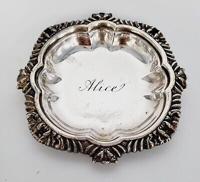 """VTG Tiffany & Co Sterling Silver Small Dish #8980 3-1/2"""" Engraved """"Alice"""""""