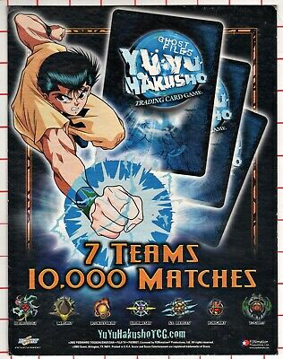 YU YU HAKUSHO TCG CCG Point of Purchase Display Ghost Files 7 Teams from 2003