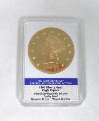 1866 Liberty Head Eagle Archival Collection Edition Coin Quality Proof