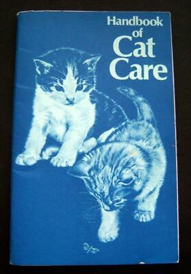 Handbook of CAT CARE Booklet 1974 Purina Pet Foods Lawrence Animal Hospital Copy