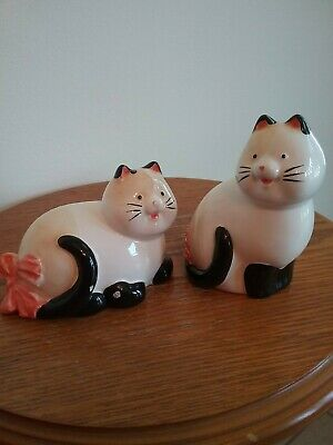 Vintage Ceramic Salt And Pepper Shakers, Cats