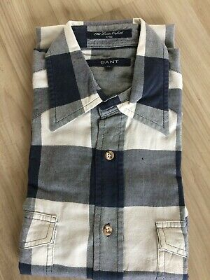 GANT Hemd M Old Loom Oxford 38 39 Bastian Rugger Shirt Rockabilly Poplin Preppy