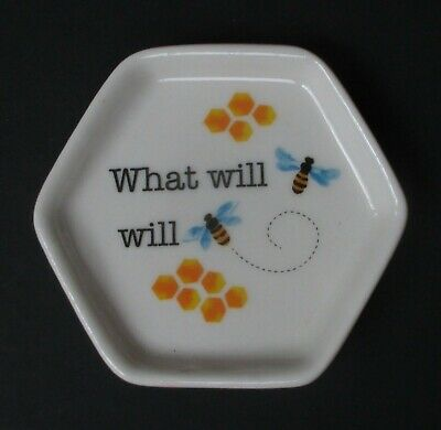 Qn What will be BEE INSPIRED Trinket tray ring jewelry dish tea bag holder ganz